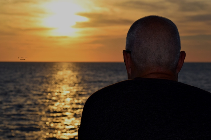 Chuck looking at sunset in Clearwater