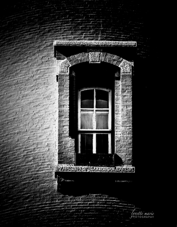 Ponce Inlet Lighthouse Window in MONO